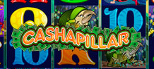 Cashapillar is a bug bash! A place where all different bugs get together to have a party, and the opportunity for you to win bug, err…big! This video slot is one slot you will want to play 100 times over because it has 100 paylines and a 5 x 5 slot layout! It will definitely worm its way into your heart!