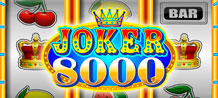 This multi-opportunity game is illustrated with bold, colorful graphics and easily navigated functions, providing long-lasting entertainment with the very real chance of significant rewards. For a gaming experience that is truly out of the ordinary and full of fun, try Joker 8 000