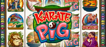 The main star of this Video Slot is a multi-talented little pig. Skilled in the field of Martial Arts, and culinary faculties, this Karate Pig is guaranteed to deliver you hours of entertainment. Sourcing out only the best ingredients to create masterpiece dishes will also deliver you delightful rewards.