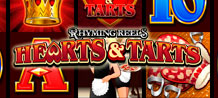 An old rhyming poem that dates back to 1782 informs the theme for Rhyming Reels – HEARTS & TARTS video slot! The ancient couplet tells the story of a crook who one summer stole tarts newly baked by the Queen, provoking the king's anger and tough physical retribution!