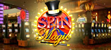 "Roll up Roll up and have a spin on Spin Magic! Hit the ""wheel of fortune"" feature will and win up to 8000x your stake!"