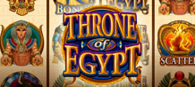 Throne of Egypt is a beautifully presented new online slot that will provide hours of genuine entertainment and the capacity for substantial rewards - take a trip into Egypt's glorious past by trying out this outstanding new game.